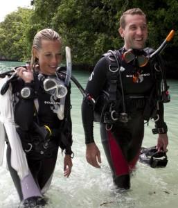 Shore diving in Fiji