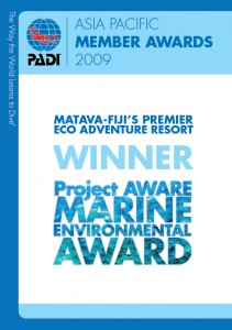 PADI Project AWARE Marine Environment Award
